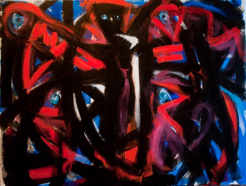 la noire - 81 cm x 100 cm - acrylique sur toile